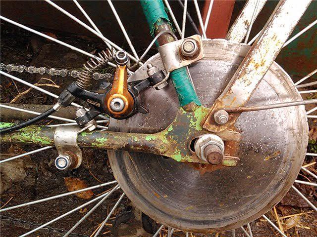 Как сделать передний тормоз на велосипеде 829