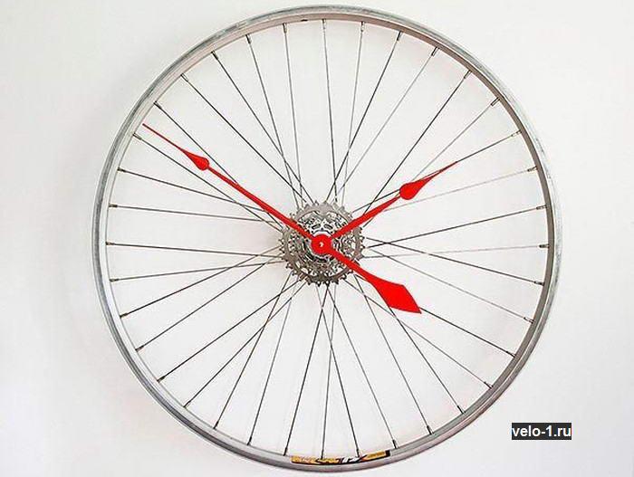 Велоидея: часы из велосипедного колеса