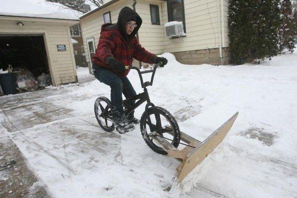 Как правильно использовать велосипед зимой!