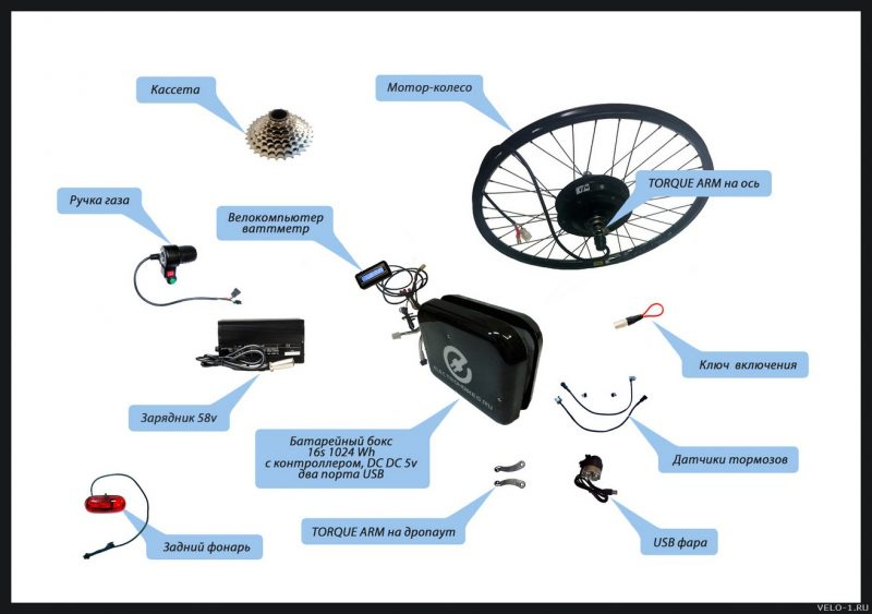 Что нужно для создания электровелосипеда (картинка)
