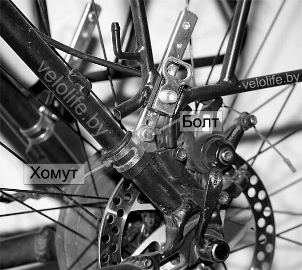 Установка багажника на велосипед с дисковым тормозом