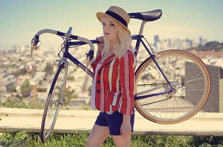Подборка девушек на велосипедах, 21 фото. Special for весна