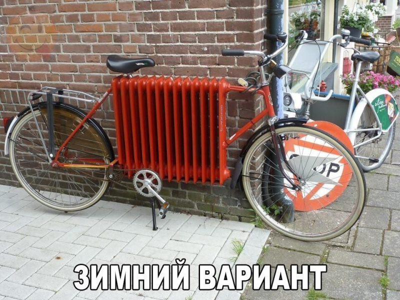 Велосипед с рамой из батареи