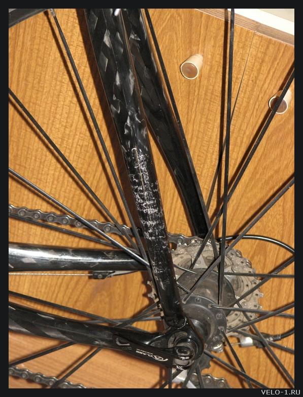 Восстановление убитой карбоновой рамы велосипеда
